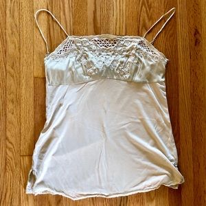 Express Embroided Silky Tank Top